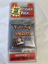 Pokemon Stickers Series 1, 10 stickers per pack, NEW SEALED! Bubble Pack - $9.74