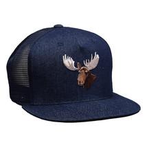 Moose Head Trucker Hat by LET'S BE IRIE - Blue Denim Snapback - £15.43 GBP