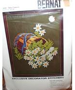 Vintage Kit~Bernat~DAISY TREASURE~(flowers in wooden bucket) - $12.45