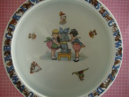 Child's Feeding Dish Bowl Vintage ABC Porridge Made in Germany Girls and... - $24.70