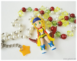 Final Fantasy X-2, Jewelry Set, Rikku Figure, Necklace and Earrings, Gam... - $35.00