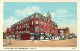 The Wilbur House Hotel Sayre Pennsylvania Linen Era Post Card - $3.00