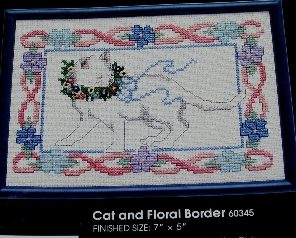 Vintage Kit~GOLDEN BEE~Cat & Floral Border (with frame)