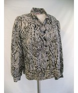 Wonderful vintage paisley black and white blous... - $25.00