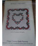 "Holly Heart 30""x30"" Applique Wall Hanging - $5.00"
