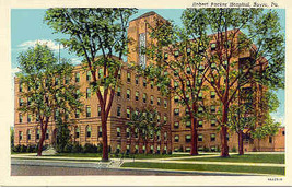 Robert Packer Hospital Sayre Pennsylvania Linen Era Post Card - $3.00