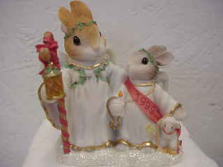 "Blushing Bunnies Angels""Here We Stand"" Enesco"