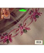 Peach Rose Garland Silk Ribbon Embroidery - $4.00