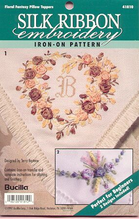 Floral Pillow Toppers~Ribbon Embroidery Begin
