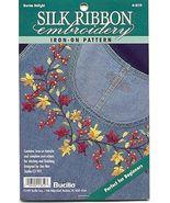 Silk Ribbon Embroidery~Denim Delight - $4.00