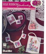 Pansy Necklace & Earrings Ribbon Embroidery - $6.00