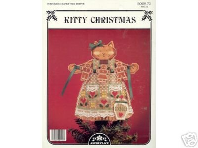 Kitty Christmas Perforated Paper Tree Topper Chart