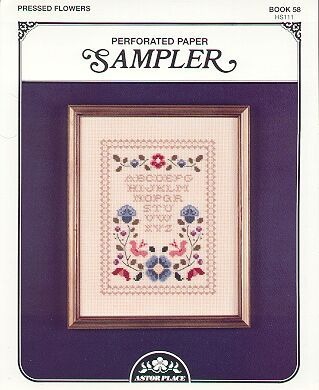 Pressed Flowers~Cross Stitch~Perforated Paper