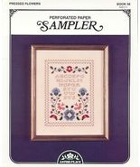 Pressed Flowers~Cross Stitch~Perforated Paper - $4.00