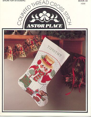 Snowman Stocking ~Counted Cross Stitch