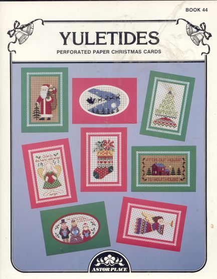 YULETIDES P/P Christmas Cards Cross Stitch