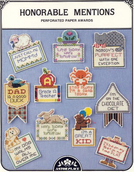 HONORABLE MENTION AWARDS~CrossStitch