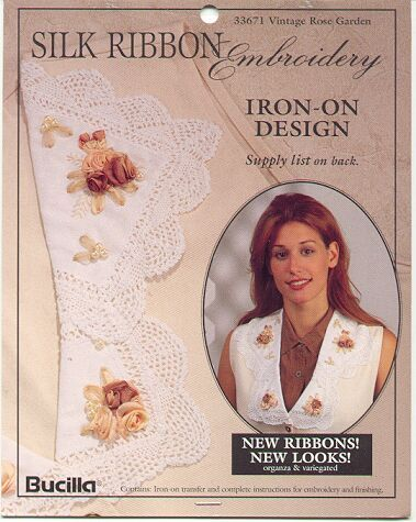 Vintage Roses Silk Ribbon Embroidery Transfer