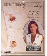 Vintage Roses Silk Ribbon Embroidery Transfer - $3.50