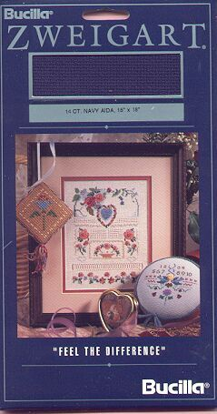 14ct Navy Aida Cross Stitch Fabric