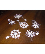 Crochet Christmas Snowflake Ornaments - $3.00