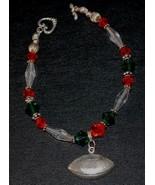 Green & Orange Beaded Crystal Football Bracelet- UM FANS! - $16.95