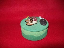 Polyresin Golf Decor trinket box - $5.00