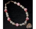 Pink cats eye   pearl bracelet w heart pryer box thumb155 crop