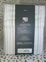 TWIN Sized 400 TC Striped Performance Sheet Set White Beige Threshold Sealed. image 4