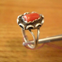Sterling Silver Ring Sz 6 Red Coral - $39.50