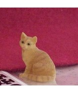 Dollhouse Pet Cat ginger Heidi Ott sitting tail wr HOXZ563g - $9.00