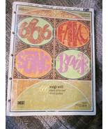 666 Fake Song Book with Music, Lyrics and Chord Symbols No. 19 - $17.99