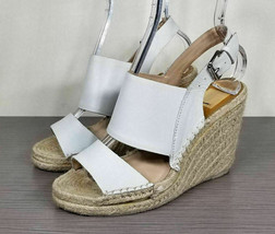 DV by Dolce Vita 'Shady' Wedge Sandal, White Leather, Womens Size 7.5 - £25.99 GBP