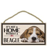 Wood Sign: It's Not A Home Without A BEAGLE   Dogs, Gifts, Decorations - $12.99