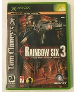 Xbox Tom Clancys Rainbow Six 3 Video Game Microsoft 2003 with Case Tested - $4.99