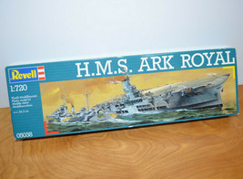 Vintage REVELL H.M.S. ARK ROYAL Model Kit Military Ship 1:720 Scale 1984... - $25.82