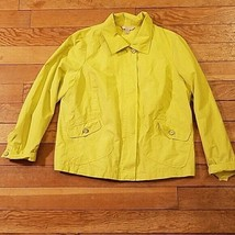 Laura Ashley Lime Green Spring Jacket Plus Size 1x - $14.70