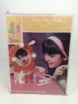 Vintage Hasbro 1969 Take Me Along Lite-Up Mirror Beauty Set Cosmetic Sealed - $69.25