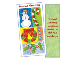 Happiness During The Holidays ~ Christmas Holiday Gift Card or Money Holder - $5.00