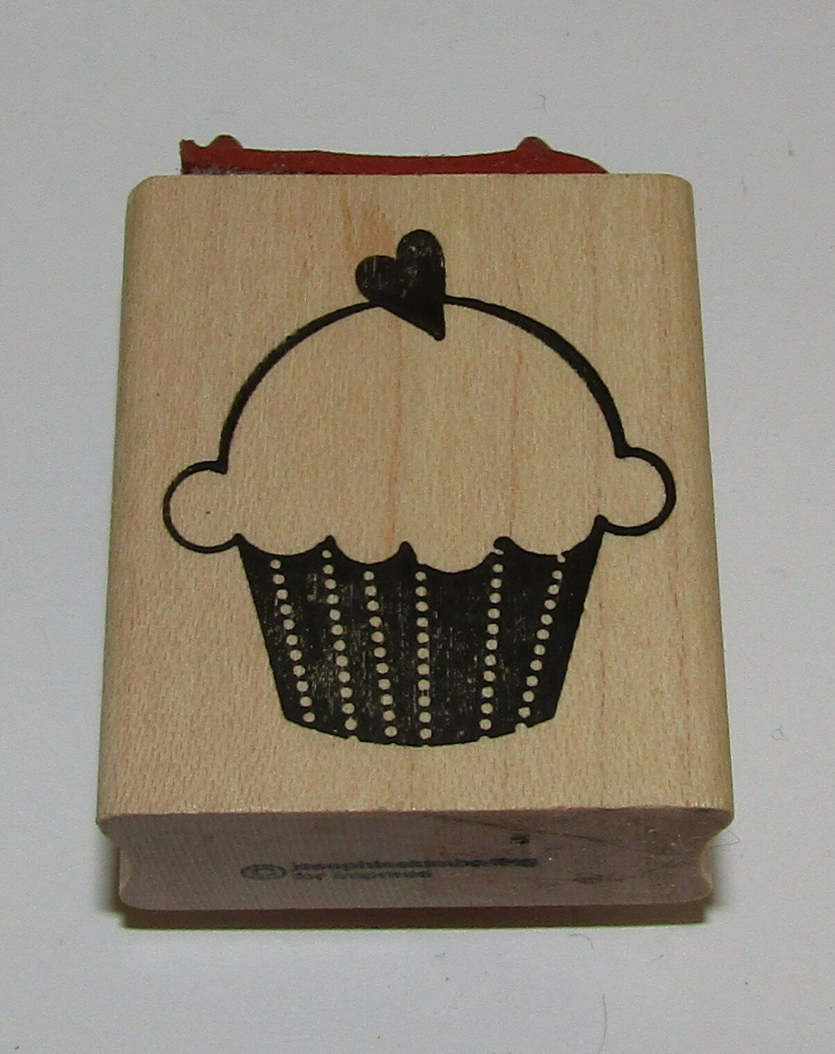 Primary image for Hey Cupcake Rubber Stamp Heart 2-in-1 Saying Design Wood Mounted Heart Impress