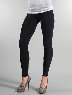 Seamless Skinny Tights Legging Elastic Pants Black One Size