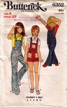 1960's OVERALLS Pattern 6352-b Child size 8 - UNCUT - $12.00