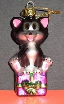 Disney Figaro the Cat Pinocchio blown Glass - $28.72