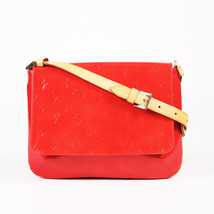 "Louis Vuitton Red ""Vernis"" Monogram Patent Leather ""Thompson Street"" Bag - $405.00"