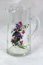Avon Wild Violets Collection 36 oz Crystal Pitcher EUC - $7.55