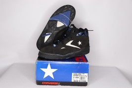 Vintage 90s New Converse Youth 4.5 Power Game II Mid Basketball Shoes Bl... - $50.44