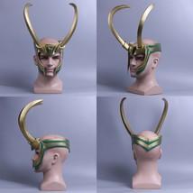 Loki Mask Thor 3 Ragnarok PVC Cosplay Helmet Mask Loki Laufeyson Rep Prop - $44.69+