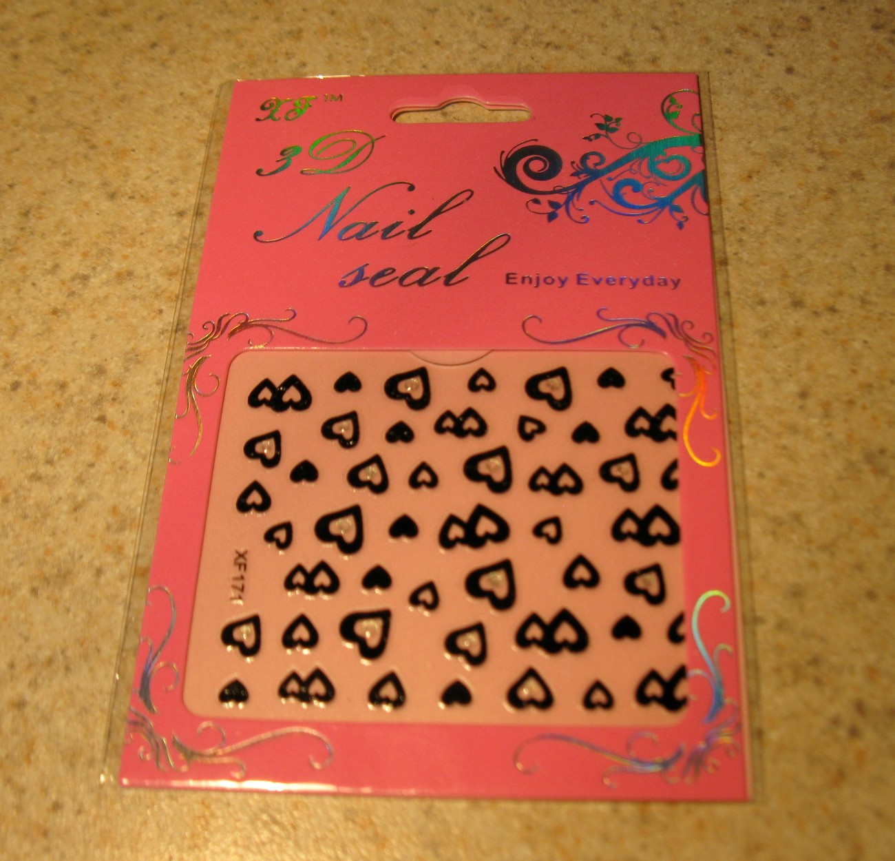 144 heart nail sticker