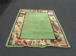 Merriment Green Tufted Virgin Wool Area Rug Carpet 5x8 - $320.00