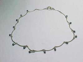 PEARL Dangle NECKLACE in Sterling Silver - Vintage Designer CAROLEE - FR... - $68.00